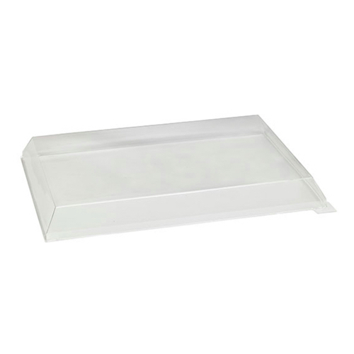 "PacknWood Clear Dome Lid for Samurai Serving Tray - 10.7"" x 14.9"" - 210SAMLT274"