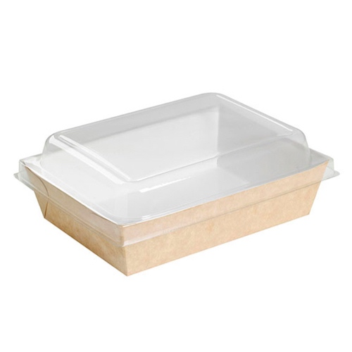 PacknWood Clear Dome Lid for Salad Container - 28 oz - 210PANL851