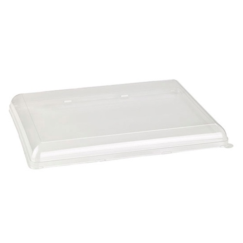 "PacknWood Clear Dome Lid for Rectangular Platter - 15.3"" x 11.4"" - 210BCHICL4030"