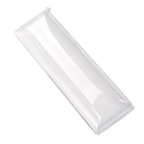 "PacknWood Clear Dome Lid for Rectangular Plate - 3.5"" x 10.6"" - 210BCHICL290"