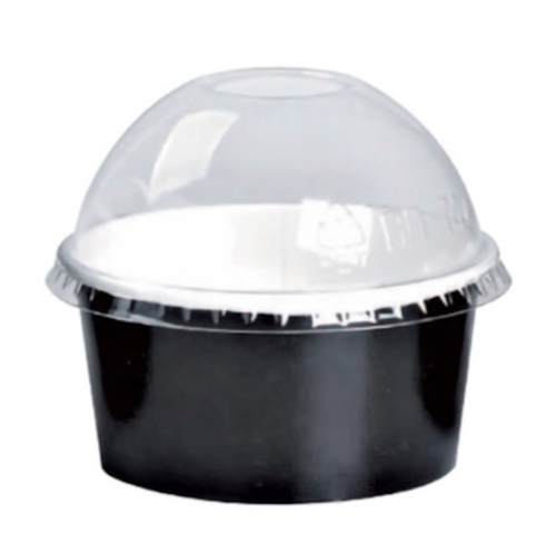PacknWood Clear Dome Lid for Portion Cup - 5 oz - 209POPETL80D