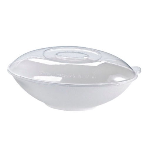 PacknWood Clear Dome Lid for Oval Bowl - 44 oz - 210BCHICL1501
