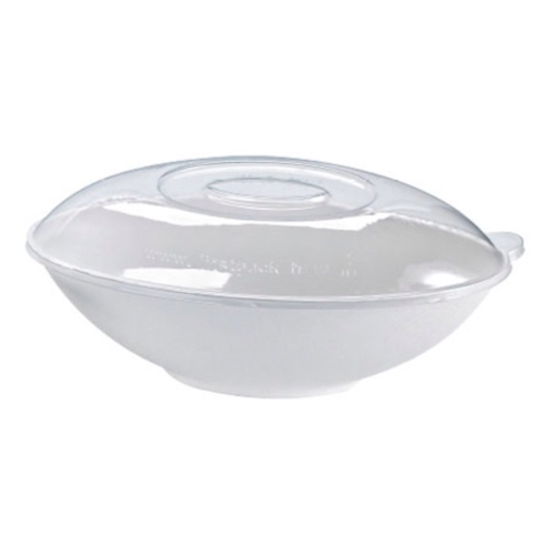 PacknWood Clear Dome Lid for Oval Bowl - 32 oz - 210BCHICL1002