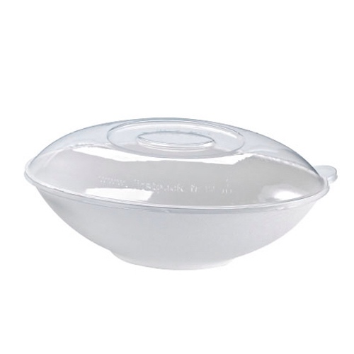 PacknWood Clear Dome Lid for Oval Bowl - 24 oz - 210BCHICL751