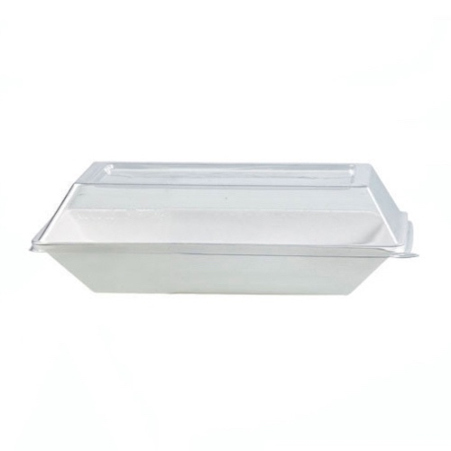 "PacknWood Clear Dome Lid for Eco Design Plate - 6.6"" x 5.1"" - 210ECODL1814"