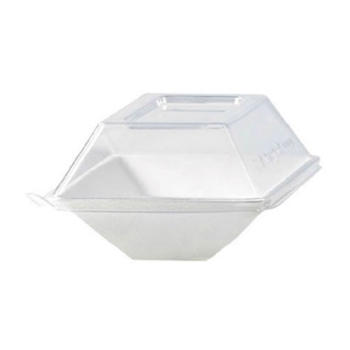 "PacknWood Clear Dome Lid for Eco Design Plate - 5.1"" x 3.3"" - 210ECODL139"