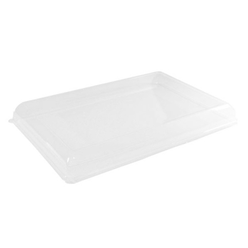 "PacknWood Clear Dome Lid for Compartment Tray - 16"" x 11"" - 210ECODL4229"