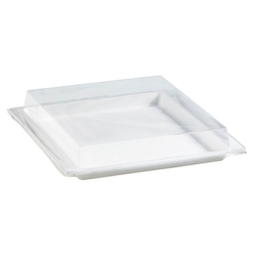 "PacknWood Clear Dome Lid for Atlas Tray - 10.4"" x 10.8"" - 210APUTRPL24"