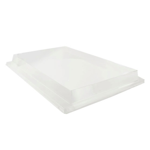 "PacknWood Clear Dome Lid for Atlas Monument Tray - 14.9"" x 11"" - 210APUTRPL11"