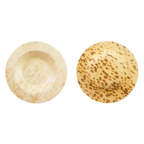 "PacknWood Bamboo Leaf Round Plate - 3.5"" - 210BBOUDISK"