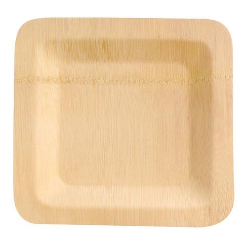 "PacknWood Bamboo Square Veneer Plate - 10"" - 210BVNER10SQ"