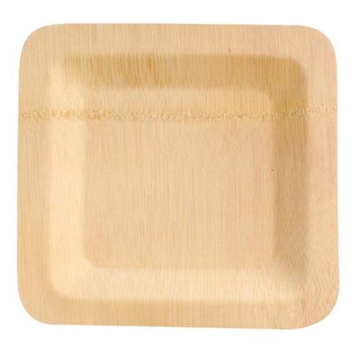 "PacknWood Bamboo Square Veneer Plate - 9"" - 210BVNER9SQ"