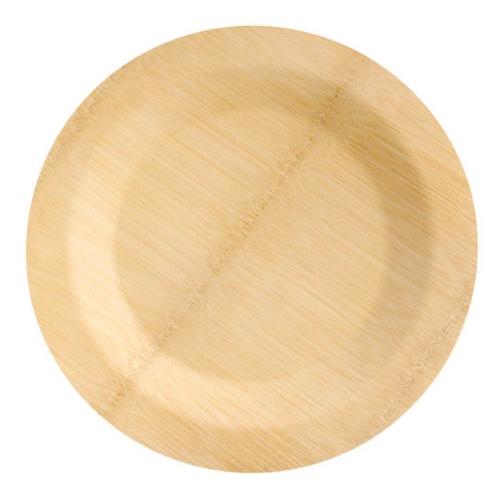 """PacknWood Bamboo Round Veneer Plate - 11"""" - 210BVNER11RD1"""