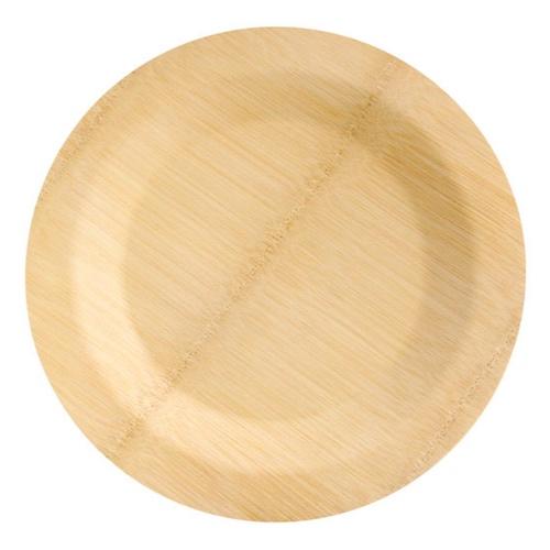 """PacknWood Bamboo Round Veneer Plate - 9"""" - 210BVNER9RD"""