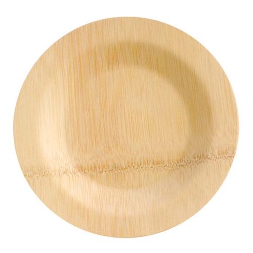 """PacknWood Bamboo Round Veneer Plate - 7"""" - 210BVNER7RD"""