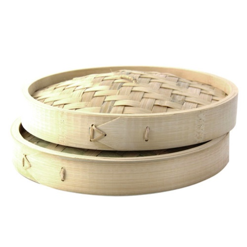 "PacknWood Bamboo Lid for Dim Sum Steamer - 55 oz - 11.8"" - 209BBDIM30LID"