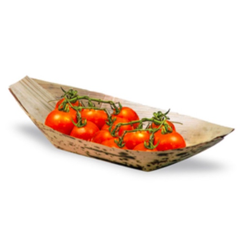 "PacknWood Bamboo Leaf Boat - 12 oz - 8"" x 4.2"" x 1.8"" - 210BJQ22"