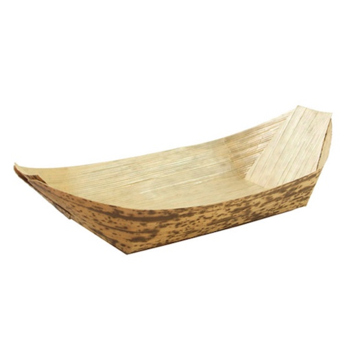 "PacknWood Bamboo Leaf Boat - 0.5 oz - 3.5"" x 1.7"" x 0.5"" - 210BJQ8"