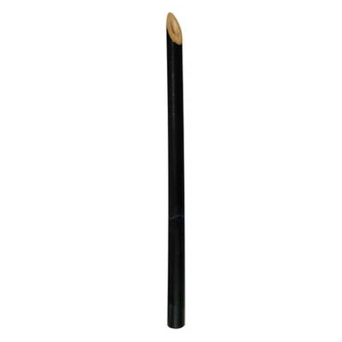 "PacknWood Bamboo Black Cocktail Straw - 5.7"" - 210BSTRAW14B"