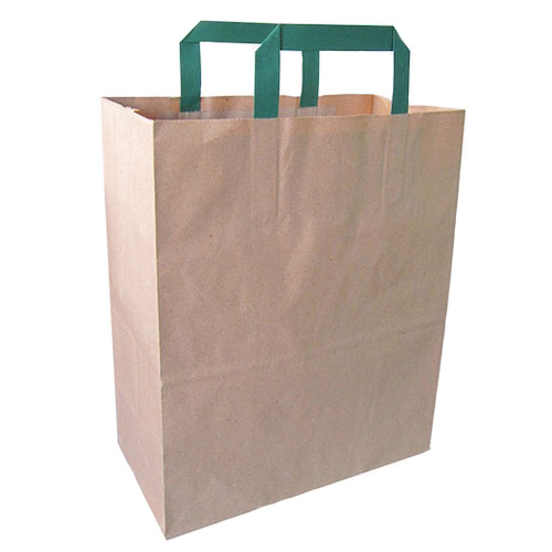 "PacknWood Paper Kraft Bag Handle - 10.5"" x 5.5"" x 13"" - 210CAB2518BR"