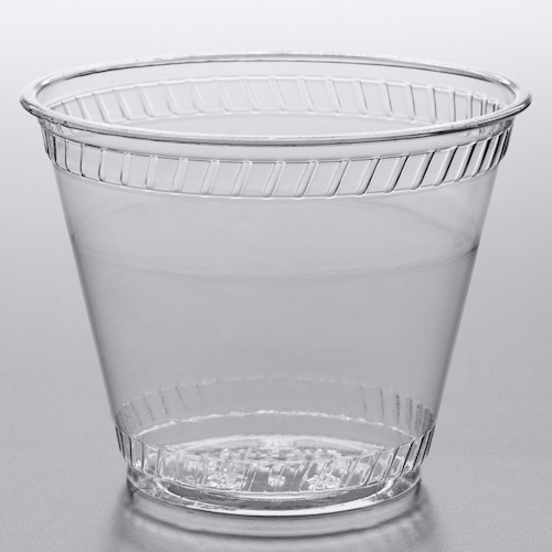 Fabri-Kal Greenware Clear Plastic Cold Cup - 9 oz - GC09