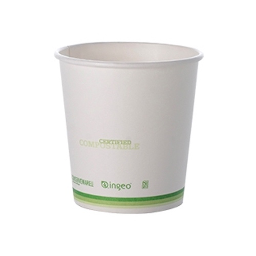 Conserveware Compostable Paper PLA Lined Hot Cup - 4 oz - 42HC04