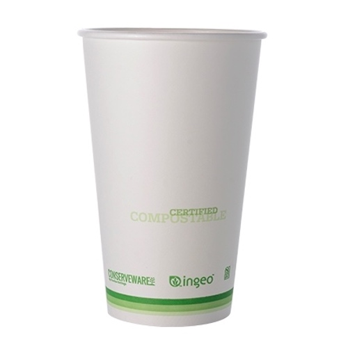 Conserveware Compostable Paper PLA Lined Hot Cup - 16 oz - 42HC16