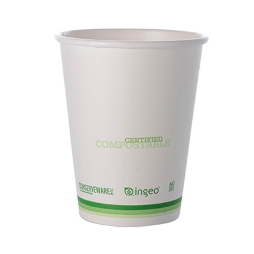 Conserveware Compostable Paper PLA Lined Hot Cup - 10 oz - 42HC10