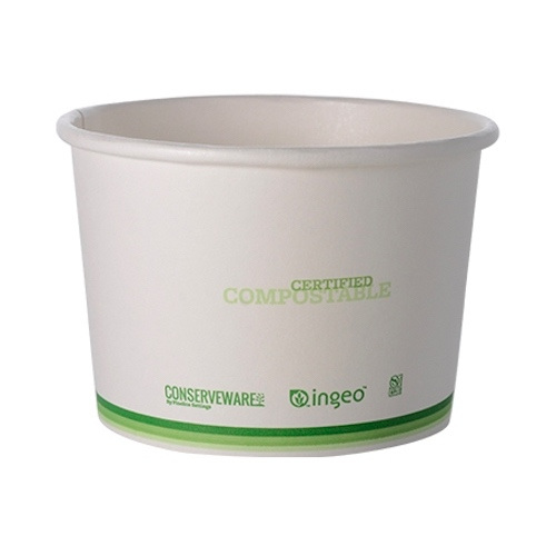 Conserveware Paper PLA Lined Container - 16 oz - 42FC16