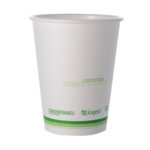 Conserveware Compostable Paper PLA Lined Hot Cup - 12 oz - 42HC12