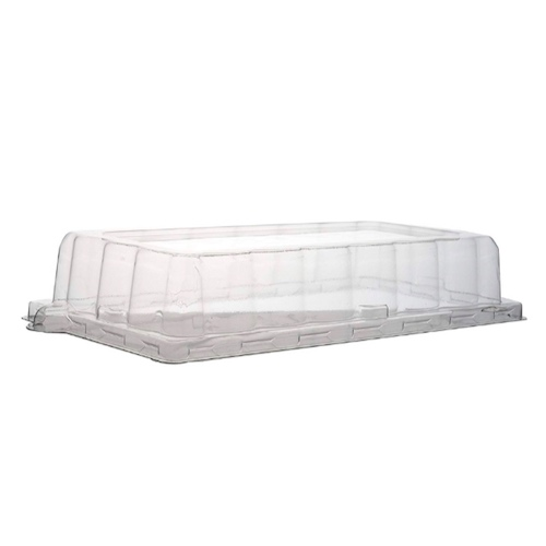 "Conserveware PETE Clear Dome Lid for Rectangular Plate - 7.5"" x 5.5"" - 42RCL75"