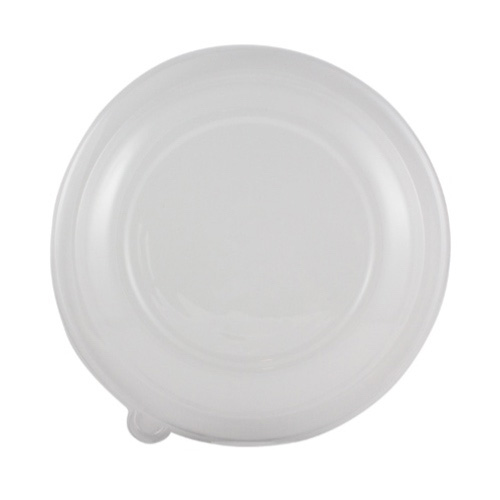 World Centric PLA Clear Flat Lid for Shallow Bowl - 36 oz - BOL-CS-36