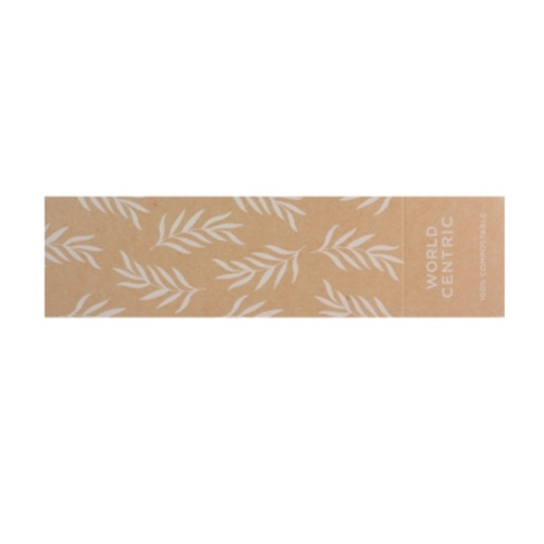 World Centric Paper Kraft Sleeve for Container - 29/36 oz - SL-PA-TR10