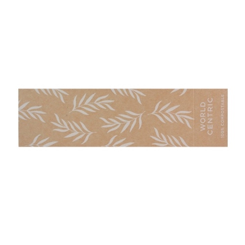 World Centric Paper Kraft Sleeve for Container - 14/17 oz - SL-PA-TR8