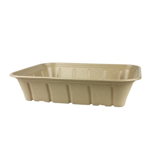 World Centric Fiber PLA Lining Catering Pan Tray - 120 oz - CA-SC-120L