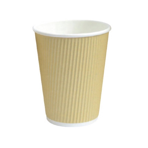 PacknWood Paper Beige Ripplay Cup - 10 oz - 210GCR10BG