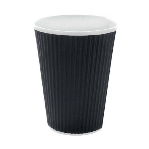 PacknWood Paper Black Ripplay Cup - 20 oz - 210GCR20N