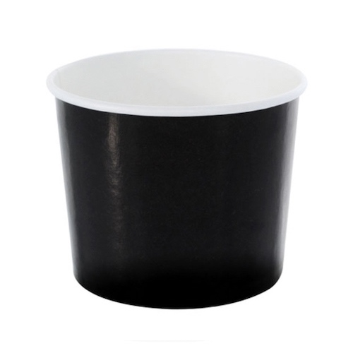 PacknWood Paper Black Souffle / Portion Cup - 7 oz - 210POC181N