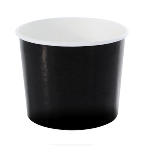 PacknWood Paper Black Souffle / Portion Cup - 10 oz - 210POC320N