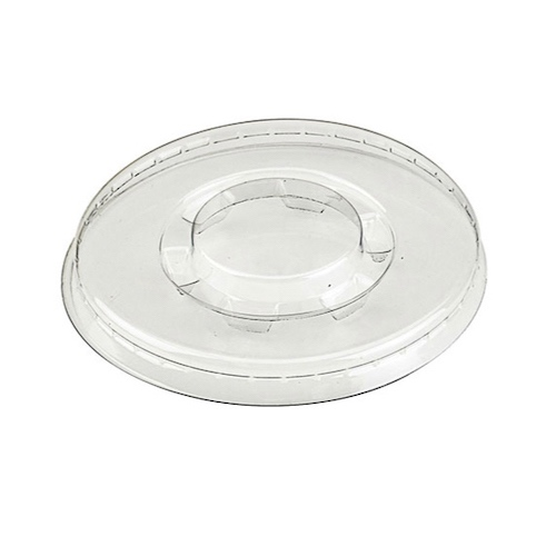 "PacknWood Clear Flat Lid for Portion Cup - 3.1"" - 210GKL80"