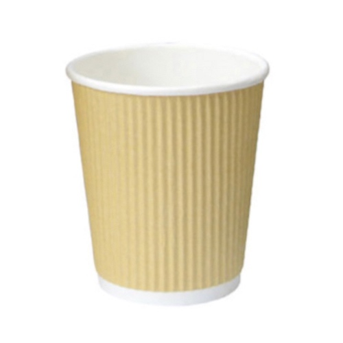 PacknWood Paper Beige Ripplay Cup - 4 oz - 210GCR4BG