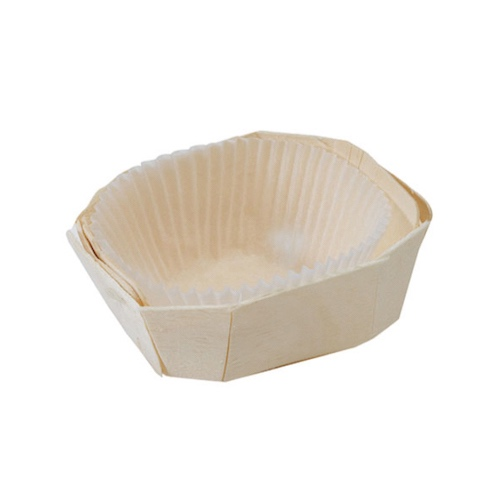 "PacknWood Wood Baking Mold - 4 oz - 3.7"" x 2.6"" x 1.5"" - 210NBAKE107"