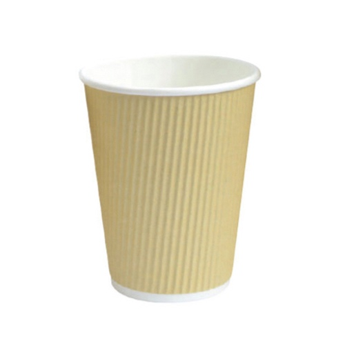 PacknWood Paper Beige Ripplay Cup - 12 oz - 210GCR12BG