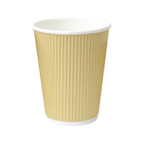 PacknWood Paper Beige Ripplay Cup - 8 oz - 210GCR8BG