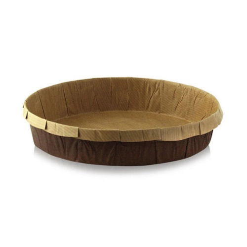 "PacknWood Paper Kraft Round Baking Mold - 6.5"" - 209KRBAKED165"