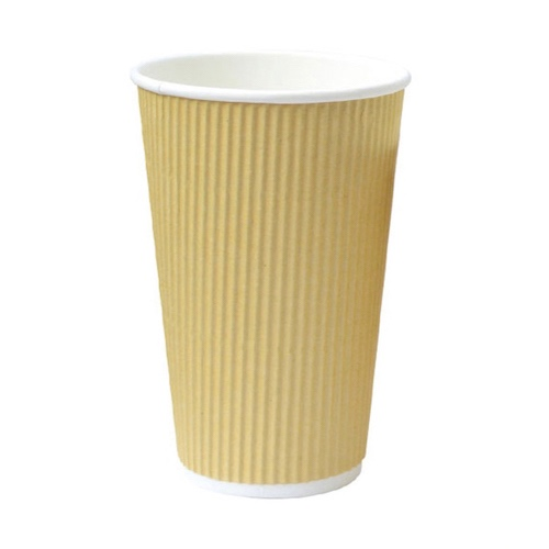 PacknWood Paper Beige Ripplay Cup - 20 oz - 210GCR20BG