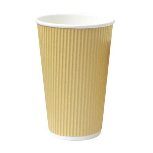 PacknWood Paper Beige Ripplay Cup - 16 oz - 210GCR16BG