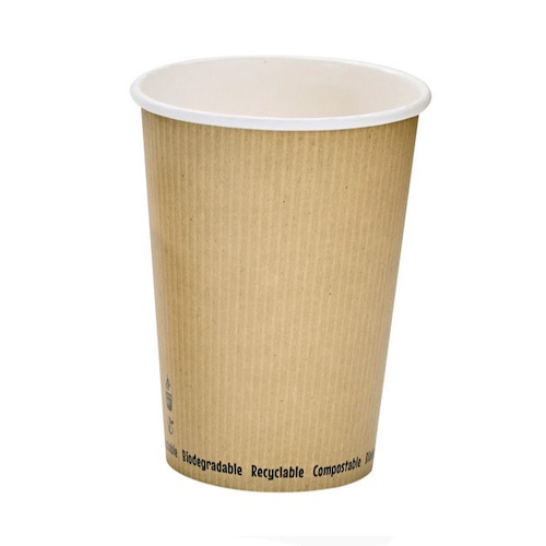 "PacknWood Paper Kraft Soup Cup - 32 oz - 4.5"" - 210PLAS32"