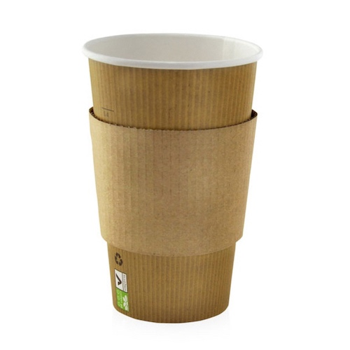PacknWood Paper Coffee Cup Sleeve - 12-16 oz - 210GBAG16