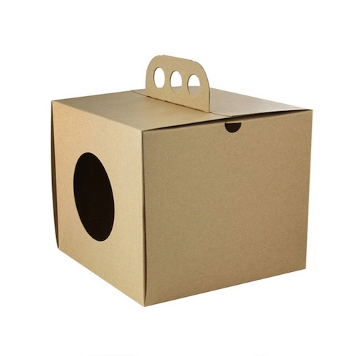 """PacknWood Paper Kraft Take Out Lunch Box - 6.9"""" x 6.9"""" x 5.9"""" - 210CDP176"""